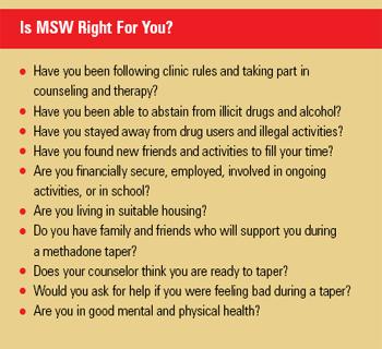 MSW Checklist