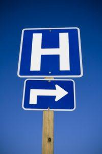 hospital sign purchasedshutterstock_33280960